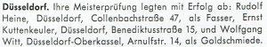 Meisterprüfung in Düsseldorf Bestanden: Rudolf Heine, Ernst Kuttenkeuler, Wolfgang Witt