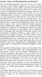 Informationen aus der Innung Dortmund