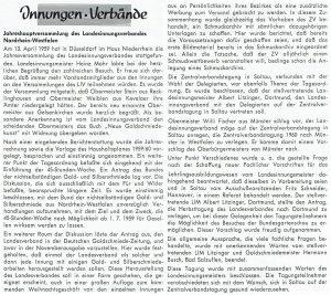 Bericht über die LIV Jahresversammlung NRW