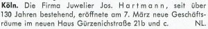 Informationen aus Köln